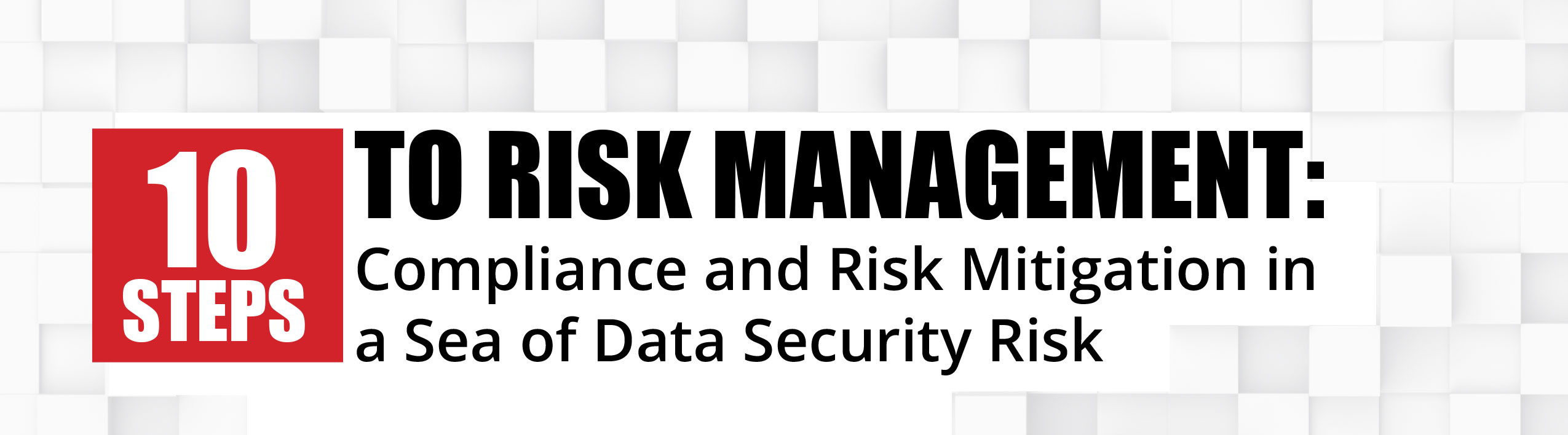 10 Steps to Risk Management: Compliance and Risk Mitigation