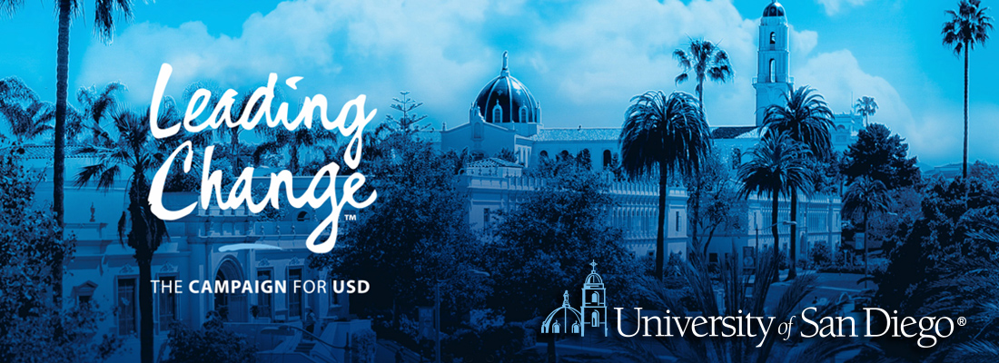 data security University of San Diego blue background Leading Change