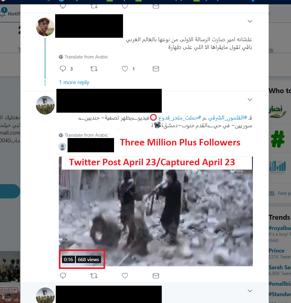 terrorist propaganda on twitter real