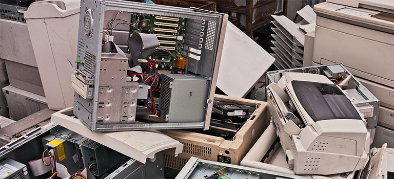 Dead Computer, pile of computers, broken computers, cyber attack