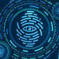Biometric, biometrics, fingerprints, eyes, blue.