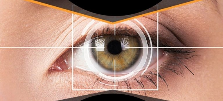Eye Tracking, close up on eye, technology, futuristic