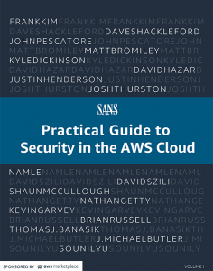 Cloud Security Practical Guide to Security in the AWS Cloud