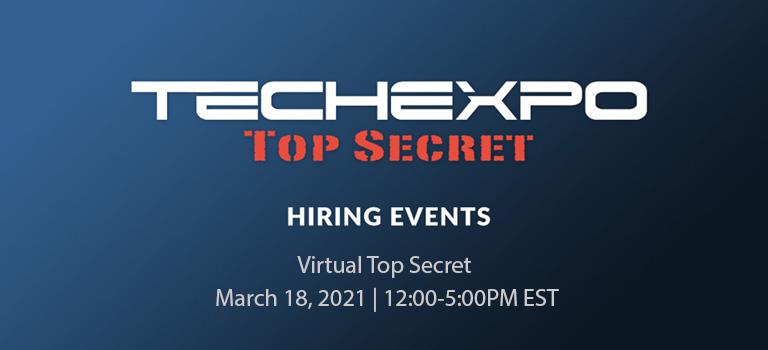 TECHEXPO Virtual Top Secret Hiring Event