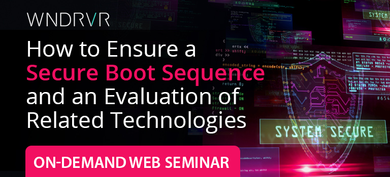 How to ensure a secure boot sequence and an evaluation of related technologies